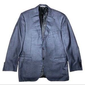 Canali Wool Silk Check Siena Sport Coat Recent
